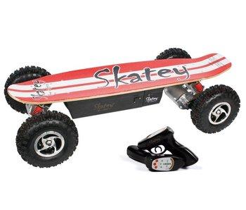 Skatey SKATEY 800 elektrisch skateboard rood - wit