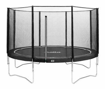 Salta trampoline met veiligheidsnet - Antraciet (o 366cm ) + gratis trapje