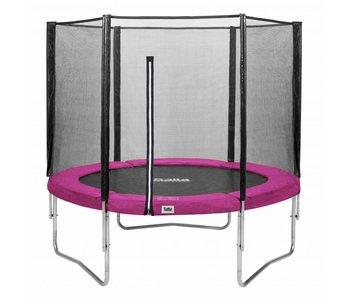 Salta trampoline met veiligheidsnet 213 Roze + gratis trapje