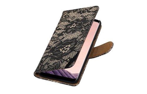 Lace Bookstyle S8 Plus Zwart
