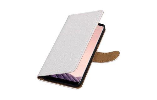 Croco Bookstyle voor S8 Plus Wit