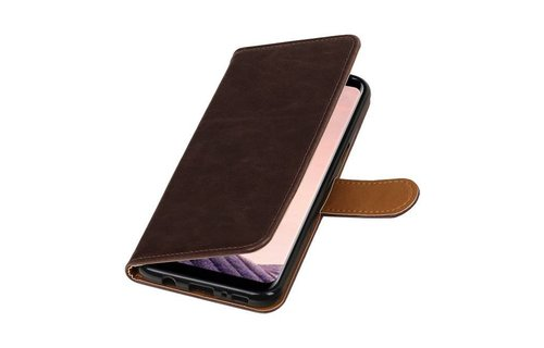 Leder Bookstyle voor Galaxy S8 + Mocca