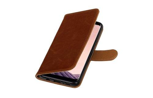 Leder Bookstyle voor Galaxy S8 Plus Bruin