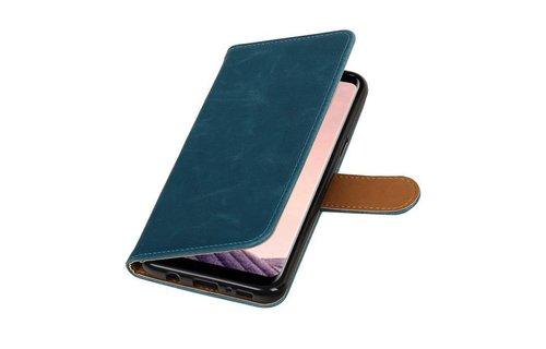 Leder Bookstyle voor Galaxy S8 Plus Blauw