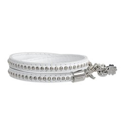 Pimps and Pearls Moesss Trendy Leder 12 White