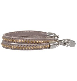 Pimps and Pearls Moesss Trendy Leder 19 Taupe Gold