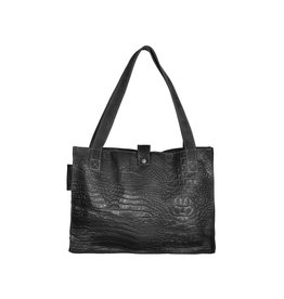 Pimps and Pearls Tasss 11 - Shop & Go Croco 00 Black