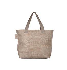 Pimps and Pearls Tasss 12 - Shopper Lys Croco 01 Sand