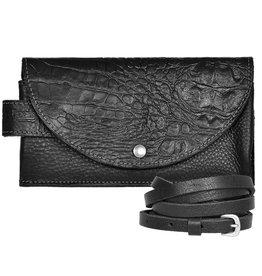 Pimps and Pearls Tasss 8 - Smart/Wallet/Clutch Croco 00 Black