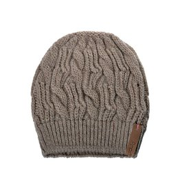 Pimps and Pearls Beanie Caban Muts BC02 Taupe