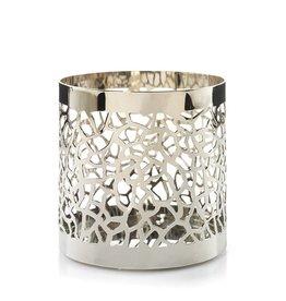 Yankee Candle Matrix Brushed Silver Jar Holder