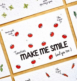 BLOOM your message Kaart met groentezaadjes - make me smile
