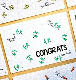 Kaart met kruidenzaadjes - congrats