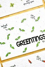 Kaart met kruidenzaadjes - greenting