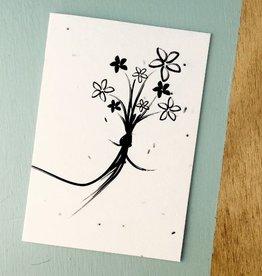 Kaart met bloemzaadjes - boeket