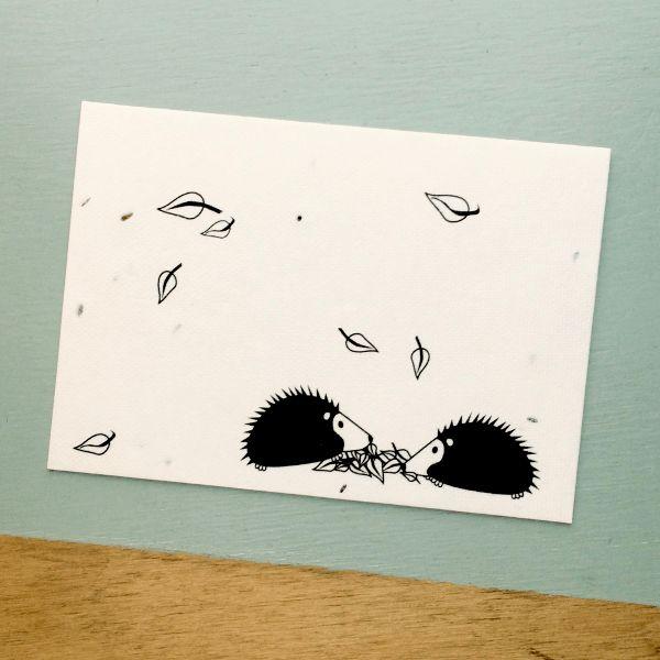 Kaart met bloemzaadjes - egels