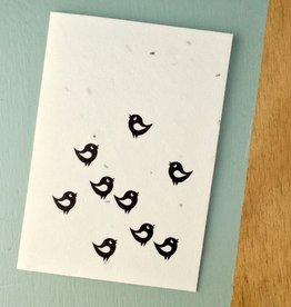 BLOOM your message Kaart met bloemzaadjes - vogels