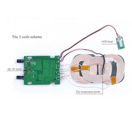 3 Coils Qi Wireless Charging Pad