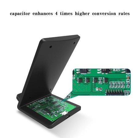 Qi Draadloze Oplader met LED Licht - Zwart