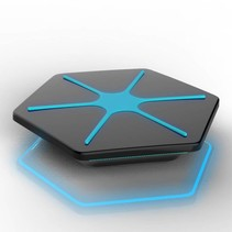 Hexagon Design Draadloze Oplader Pad - Zwart / Blauw