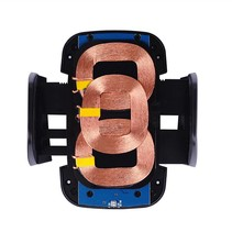 3 Coils Qi Draadloze Autolader met Zuignap