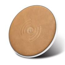 Genuine Lederen Qi Draadloze Oplader Pad (Fast Charging) - Bruin