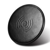 Genuine Lederen Qi Draadloze Oplader Pad (Fast Charging) - Zwart