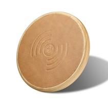 Houten Qi Draadloze Oplader Pad (Fast Charging) - Bruin