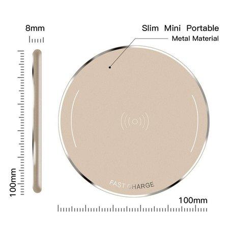 Metalen Draadloze Oplader (Snellader) - Goud