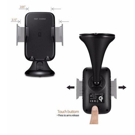 Draadloze Autolader met Zuignap - Zwart
