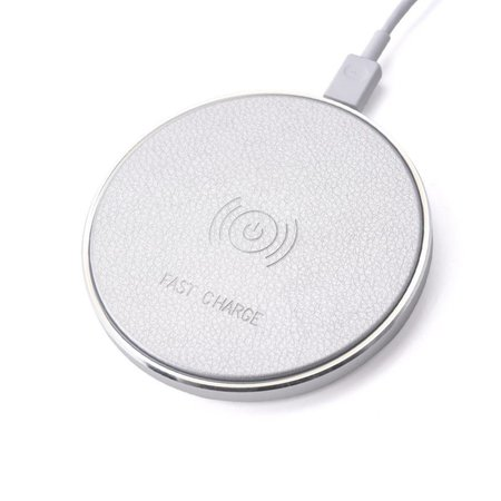 Faux Leder Qi Wireless Charging Pad - Wit