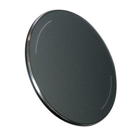 Qi Standard Aluminum Oplader Pad 5W - Zwart