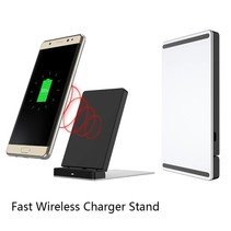 Fast Wireless Charger QI 1.2 met Standaard - Zwart