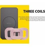 VINSIC VINSIC 3 Coils Qi Draadloze Oplader - Zwart