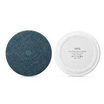 Zijde Textuur Draadloze Qi Snelle Oplader - Blauw