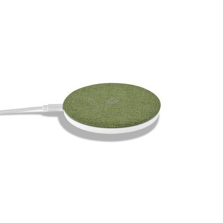 XOOMZ XOOMZ Zijde Textuur Draadloze Qi Snelle Oplader - Groen