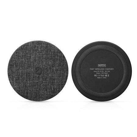 XOOMZ XOOMZ Zijde Textuur Draadloze Qi Snelle Oplader - Zwart