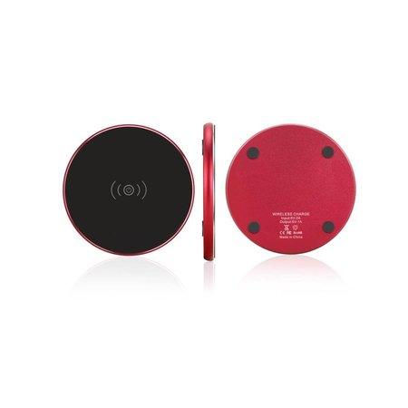 Metalen Draadloze Oplader Plaat - Zwart / Rood