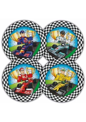 Formule 1 bordjes 23cm - 8 stuks