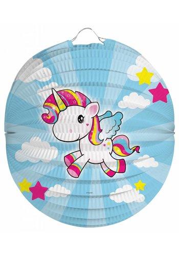 Unicorn bol lampion - 22cm
