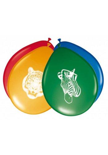 Jungle ballonnen - 8 stuks