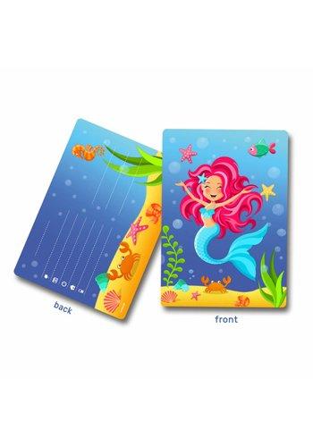 Mermaid uitnodigingen - 8 stuks