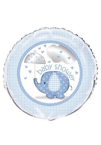 Babyshower olifantje boy folieballon