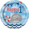 1st Birthday boy bordjes 18cm - 8 stuks