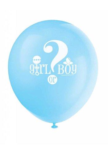 Gender Reveal ballonnen - 8 stuks