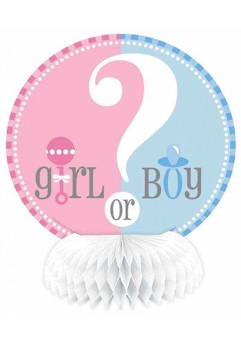 Gender Reveal tafeldecoratie 15 cm - 4 stuks