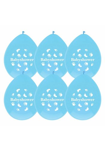 Babyshower Boy ballonnen - 6 stuks