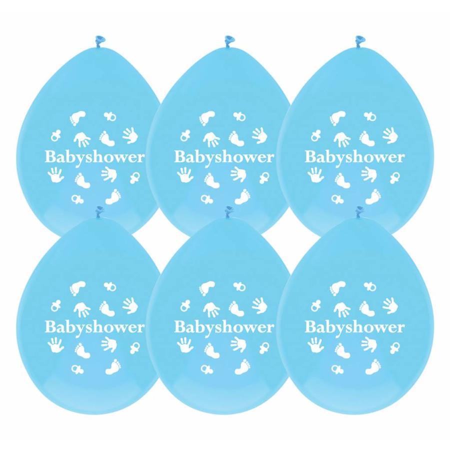 Babyshower Boy ballonnen - 6 stuks-1