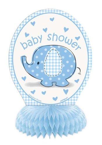 Babyshower olifantje boy tafeldecoratie 15cm - 4 stuks