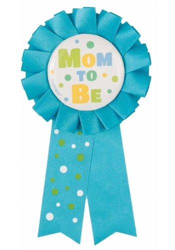 Rozet Mom to Be - Licht Blauw